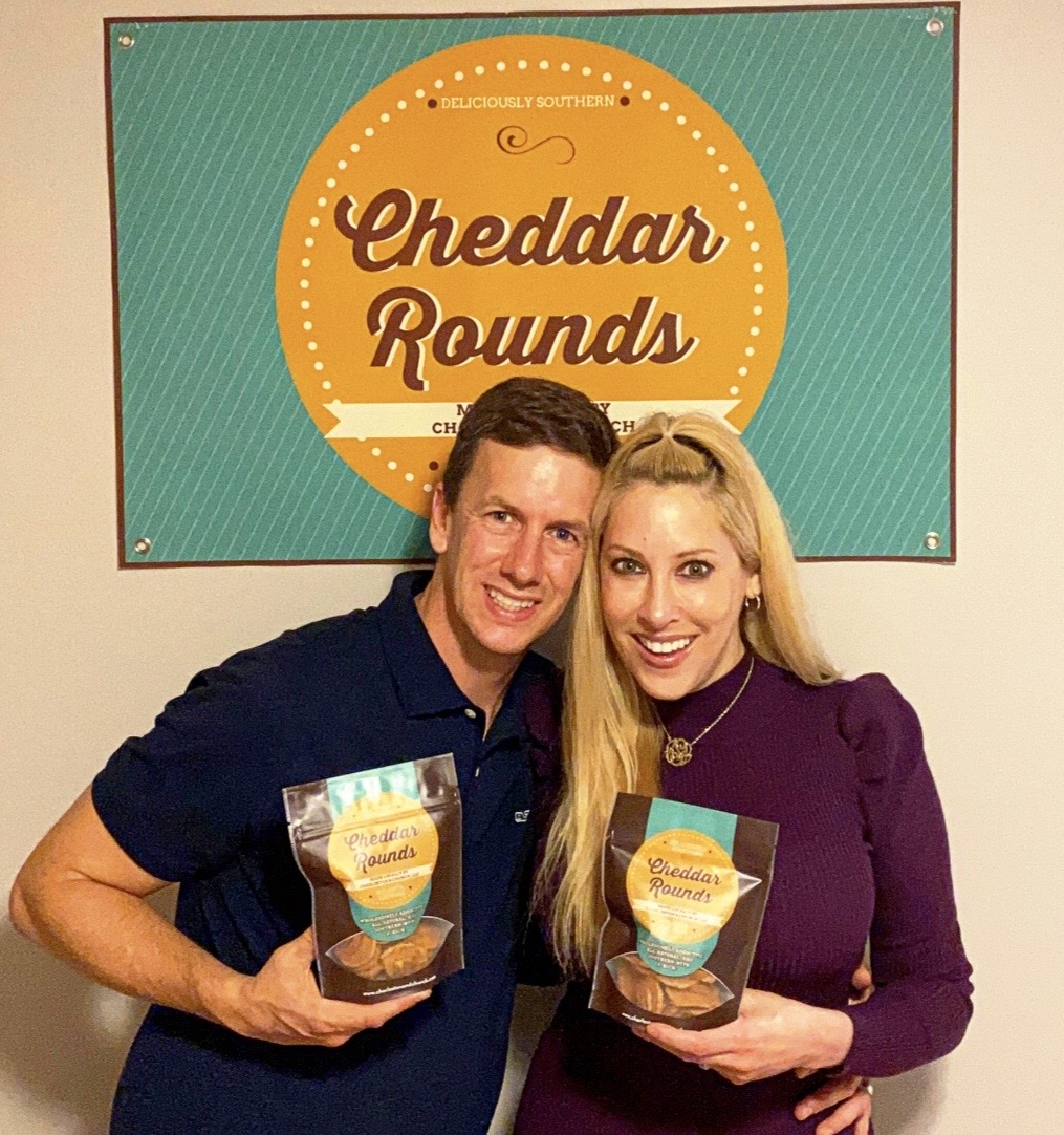 Jen and Warren Simmons won first prize with their Cheddar Rounds in this year's Flavor of Georgia contest. (Submitted photo)