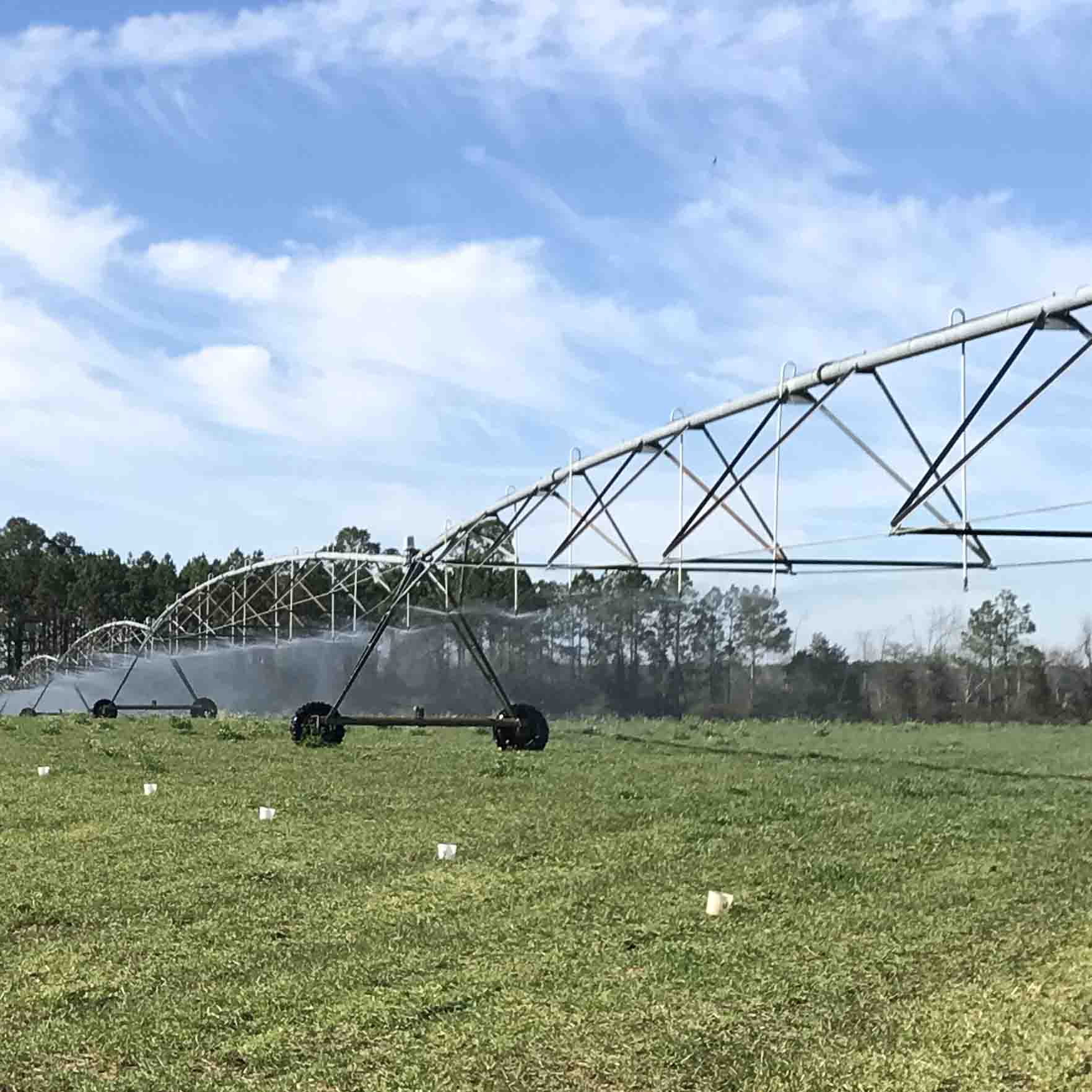 "A pivot uniformity or ""catch can"" test is conducted to verify that the system is applying water uniformly. Performing irrigation system maintenance during the winter months can ensure the system's longevity."