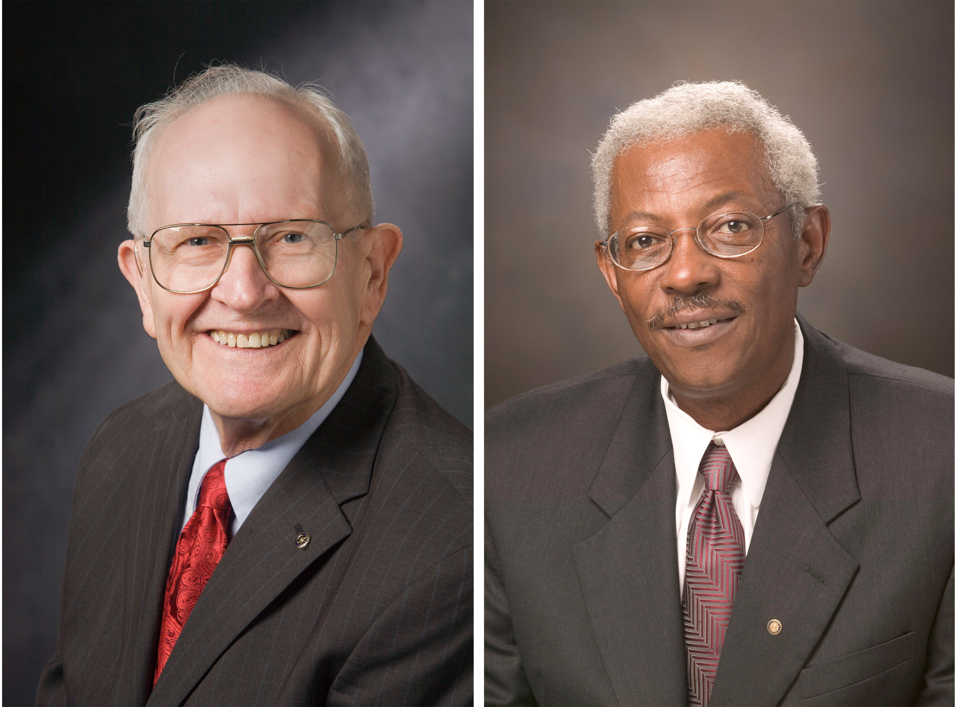 """William """"Bill"""" P. Flatt, D.W. Brooks Distinguished Professor Emeritus, and the late Ivery Clifton, a former faculty member and administrator in the College of Agricultural and Environmental Sciences and associate vice president for academic affairs, will be honored with the 2021 President's Medal in a virtual ceremony on January 25."""