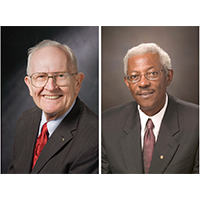 "William ""Bill"" P. Flatt, D.W. Brooks Distinguished Professor Emeritus, and the late Ivery Clifton, a former faculty member and administrator in the College of Agricultural and Environmental Sciences and associate vice president for academic affairs, will be honored with the 2021 President's Medal in a virtual ceremony on January 25."