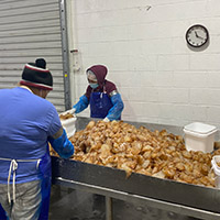 Plant workers sort, clean and package the jellyfish into five-gallon buckets for shipment.