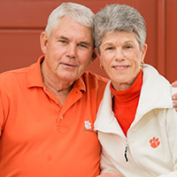"Maurice E. ""Butch"" Ferree, who retired in 1998 after 24 years with UGA Extension, was honored with a scholarship named in his honor. In 2013, Ferree, shown here with his wife, Joy Ferree, established the Gerald Smith Scholarship in Horticulture in honor of his friend and colleague Gerald Smith, a CAES alumnus, longtime UGA Extension horticulturist and associate professor emeritus."