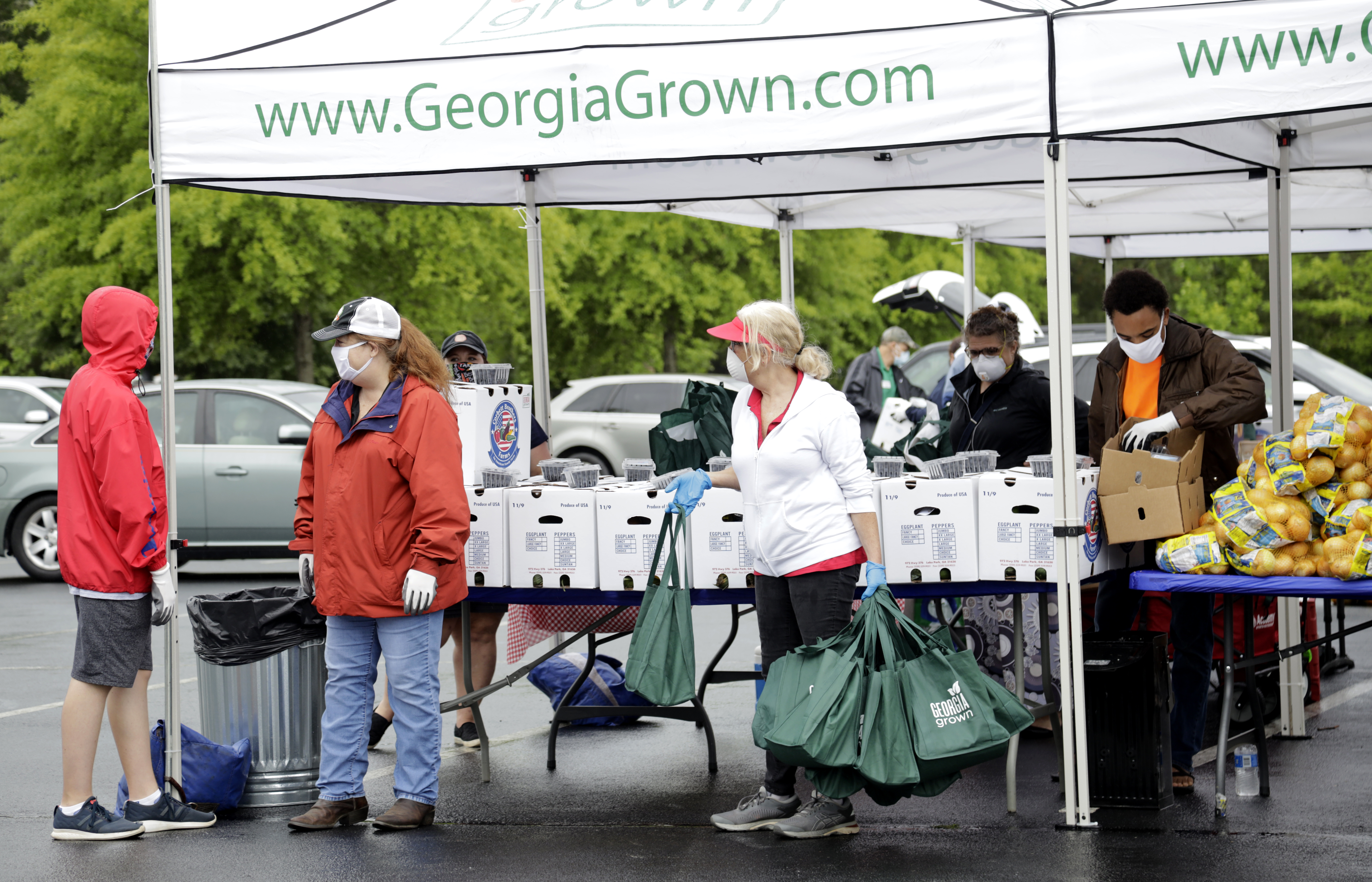 Georgia Grown, a resource of the Georgia Department of Agriculture that distributes fresh food, is pictured above distributing produce in Gwinnett County.