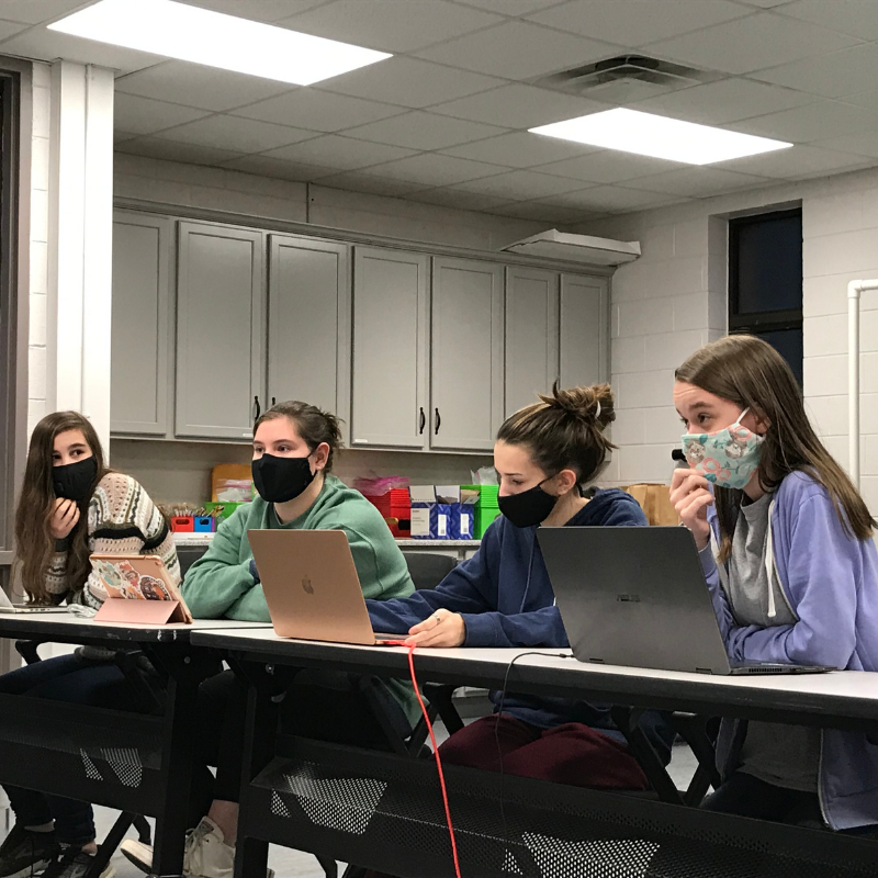 Madison Tomaso, Ally Runyon, Kennedy Gross and Alana Burcaw from Columbia County win the 2021 Georgia 4-H LifeSmarts virtual competition.