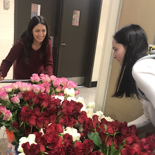 Members of the UGA Horticulture Club prepare for the club's spring rose sale. Each year, club members sell bouquets for Valentine's Day to fundraise for club operations, trips and scholarships. (Photo taken prior to March 2020)