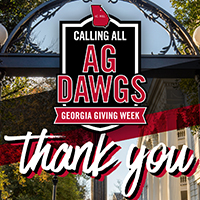 From Alaska to Wyoming, hundreds of grateful alumni, friends, students and parents made gifts supporting the CAES during 2021's Georgia Giving Week April 17 to 23.