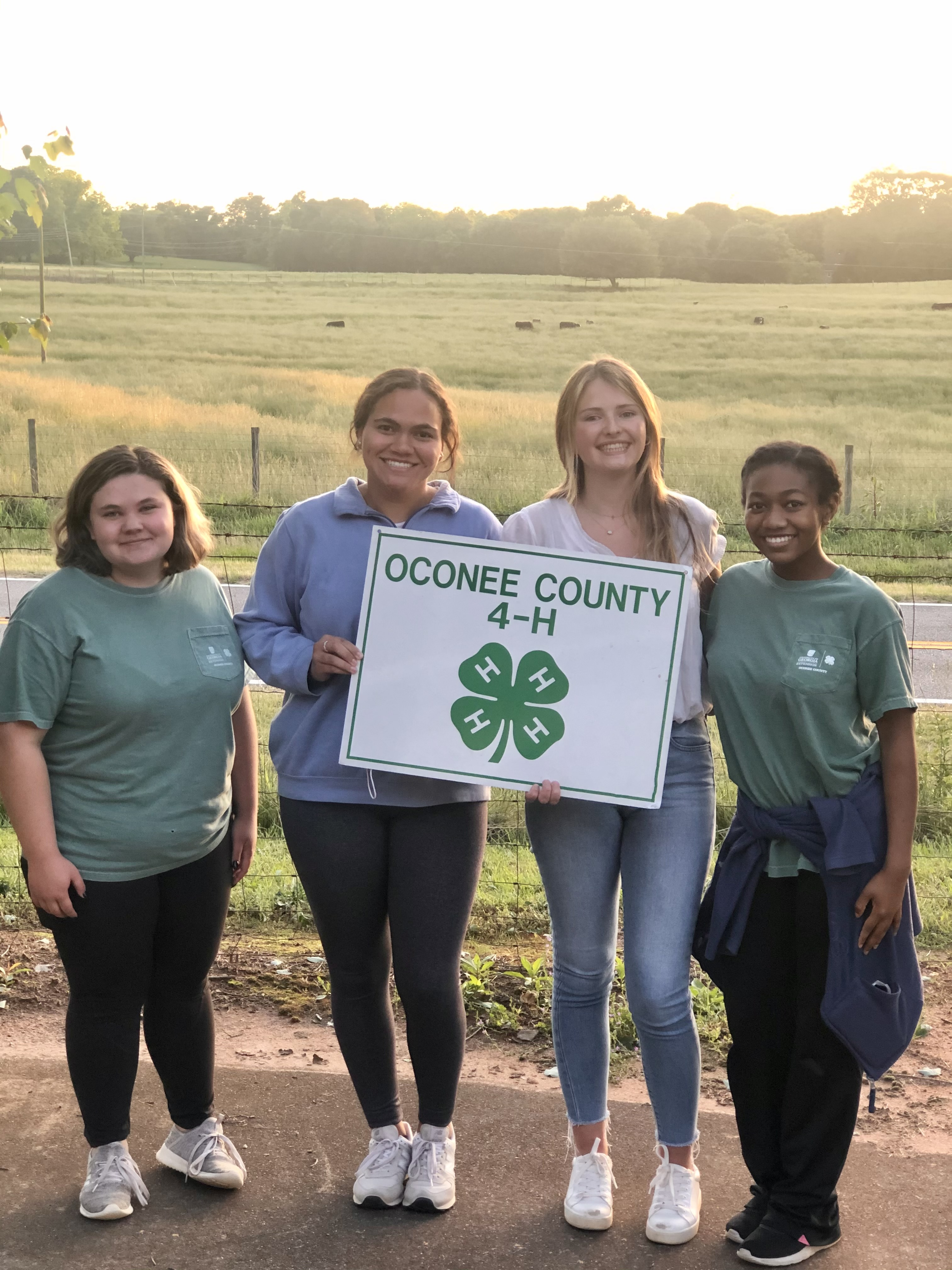 4-H Dairy Quiz Bowl senior first place team members Alicia Carnes, Alyssa Haag, Robie Lucas and Kalani Washington represented Oconee County's Team A.