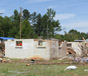 Cabins were destroyed by a May 28, 2011 tornado at Pirkle Campground in Spalding County, Ga.