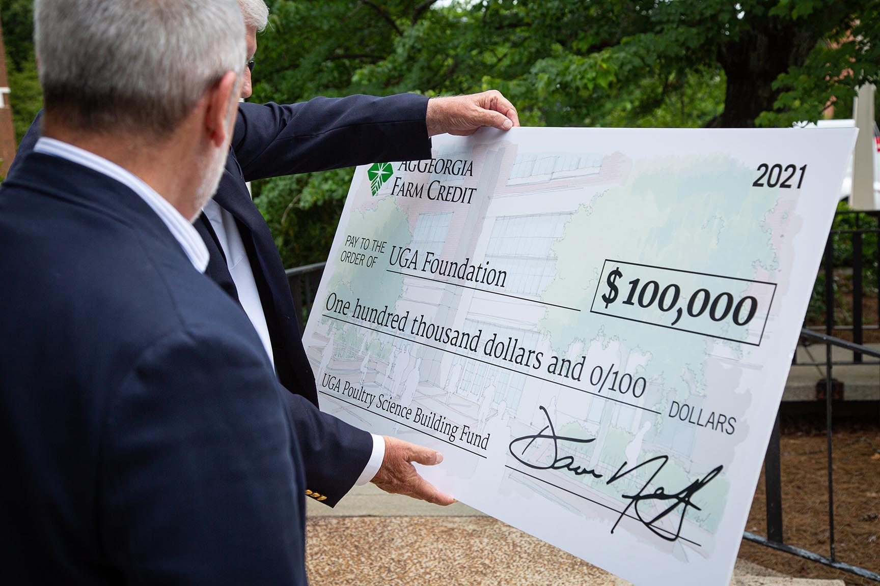 AgGeorgia Big Check for $100,000