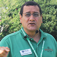 Alfredo Espinoza-Martinez received the 2021 Excellence in Extension award from the American Phytopathological Society for his work in Extension focusing on disease management in turfgrass, as well as working with small grains and non-legume forages.