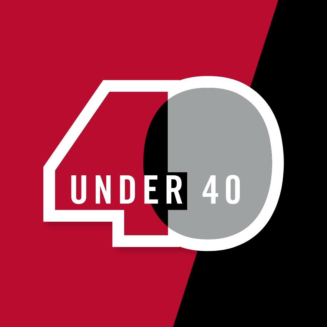 2021 40 under 40 logo