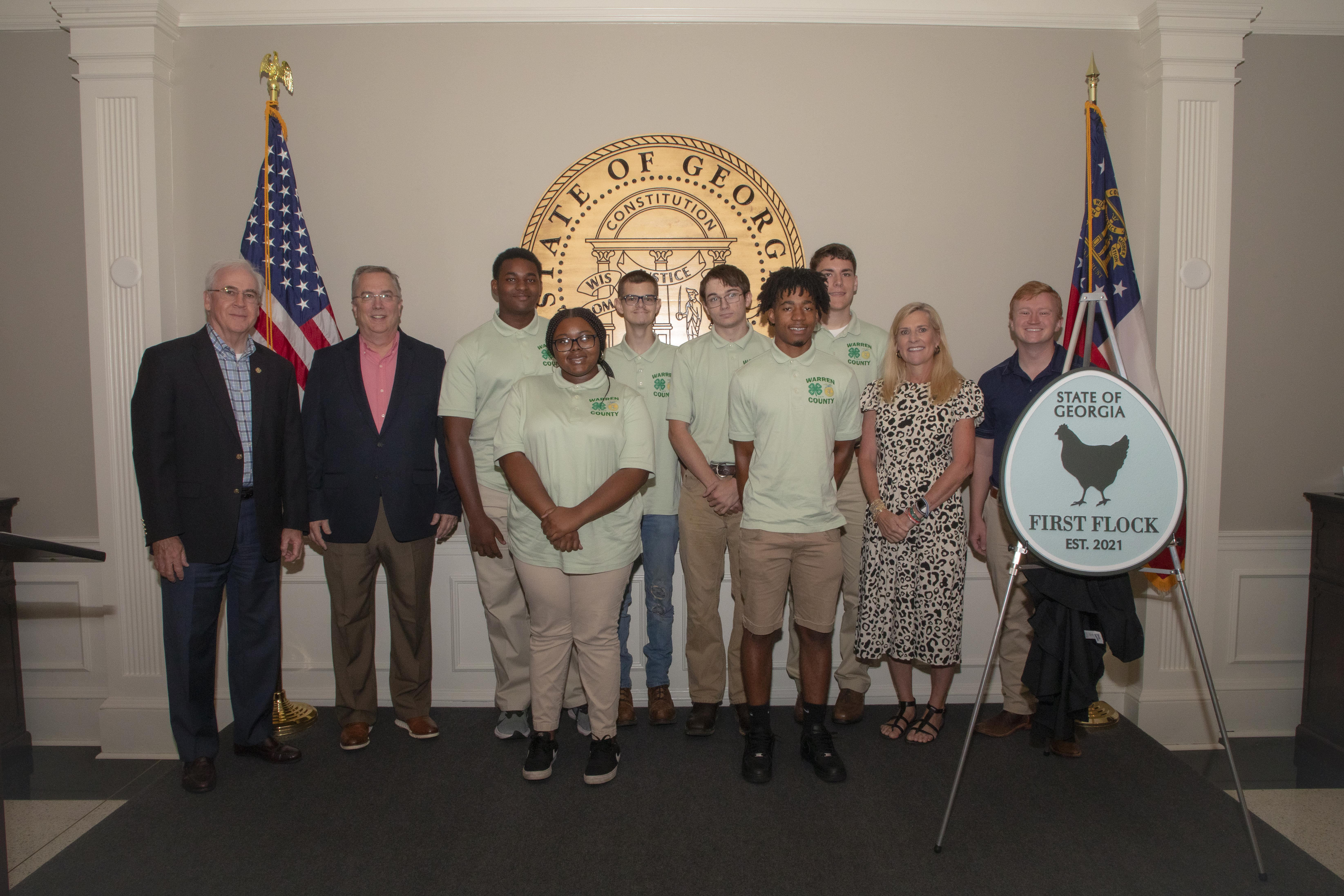 Arch Smith, Mike Giles, Warren County 4-H team, Marty Kemp and