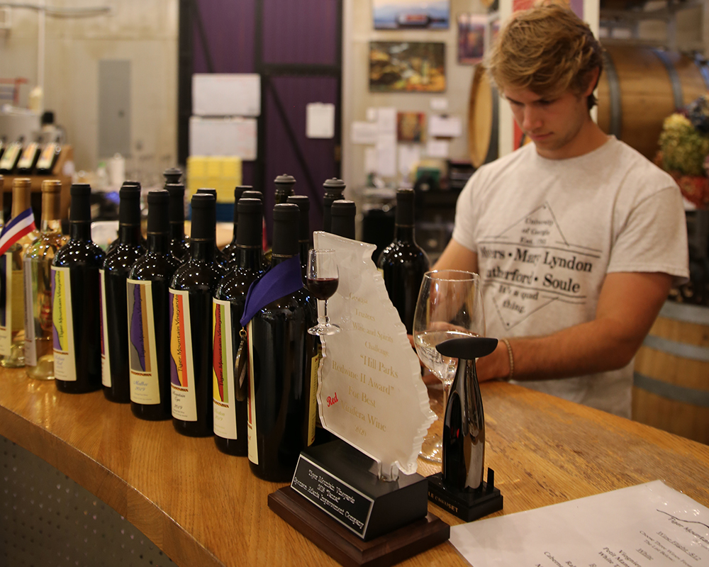 CAES senior Trent Sutton says he has gained a new appreciation for all the work that goes into a finished bottle of wine.