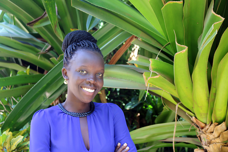 Esther Achola is a PhD student at Makerere University in Uganda working with the Peanut Innovation Lab on a project to find the genetic source of resistance to groundnut rosette disease, a viral disease that can destroy peanut crops in sub-Saharan Africa.