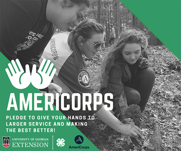 AmeriCorps members provide positive youth developing programming through 4-H.