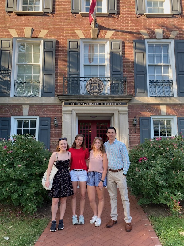 The 2021 Congressional Ag Fellows smile in front of Delta Hall in Washington, D.C.