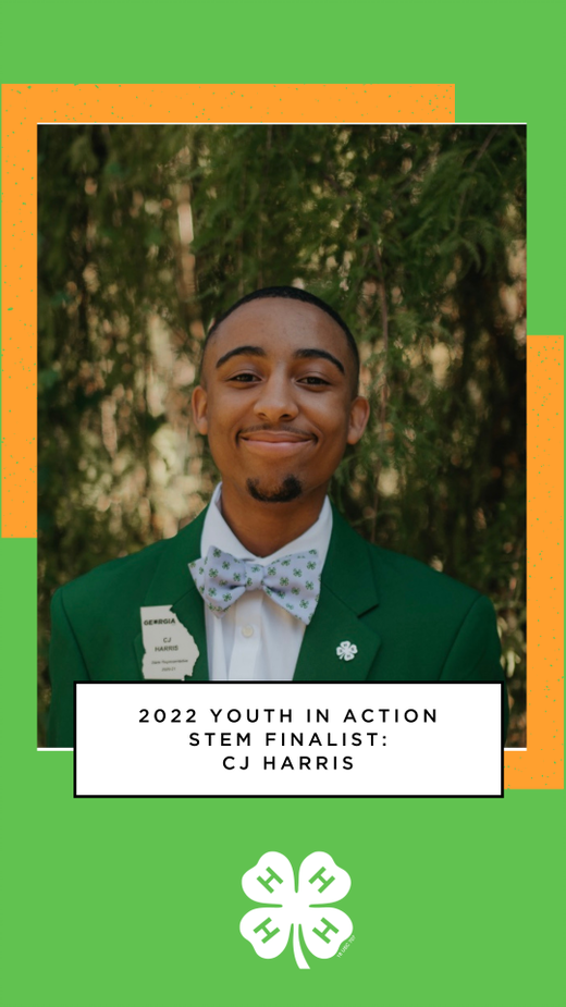 CJ Harris of Covington, Georgia, was recognized as a 2022 Youth in Action STEM finalist.