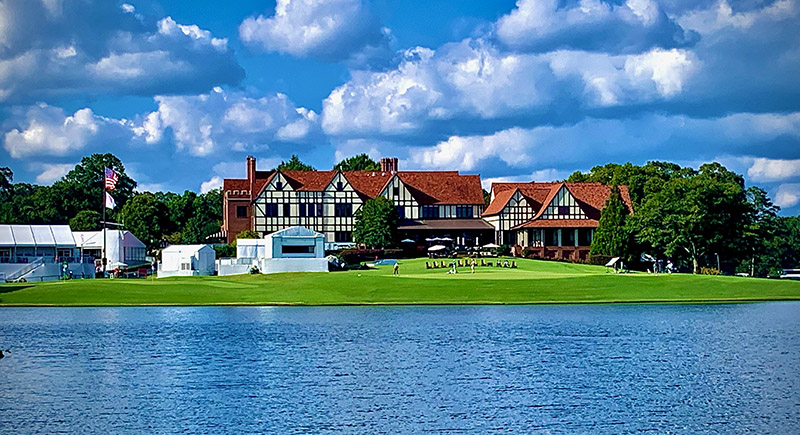 A view of the 18th green at the East Lake Golf Club in Atlanta.