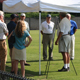 Attendees at the North Georgia Turfgrass Field Day in Gainesville, Ga., June 29, gain information on turf weeds, watering, pests and other issues.