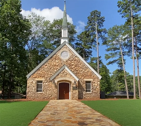 The renovated chapel at Rock Eagle 4-H Center received an award from the Georgia Trust for Historic Preservation.