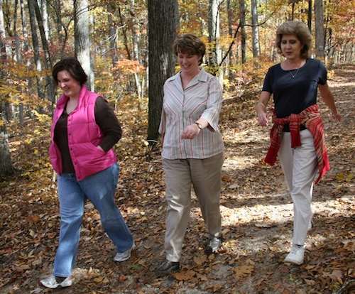 Nature hikes are an excellent choice for group exercise
