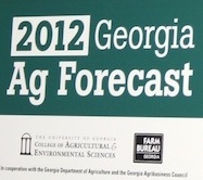 University of Georgia Extension economist Nathan Smith delivers the 2012 ag forecast to a group in Macon, Ga., at the Georgia Farm Bureau.