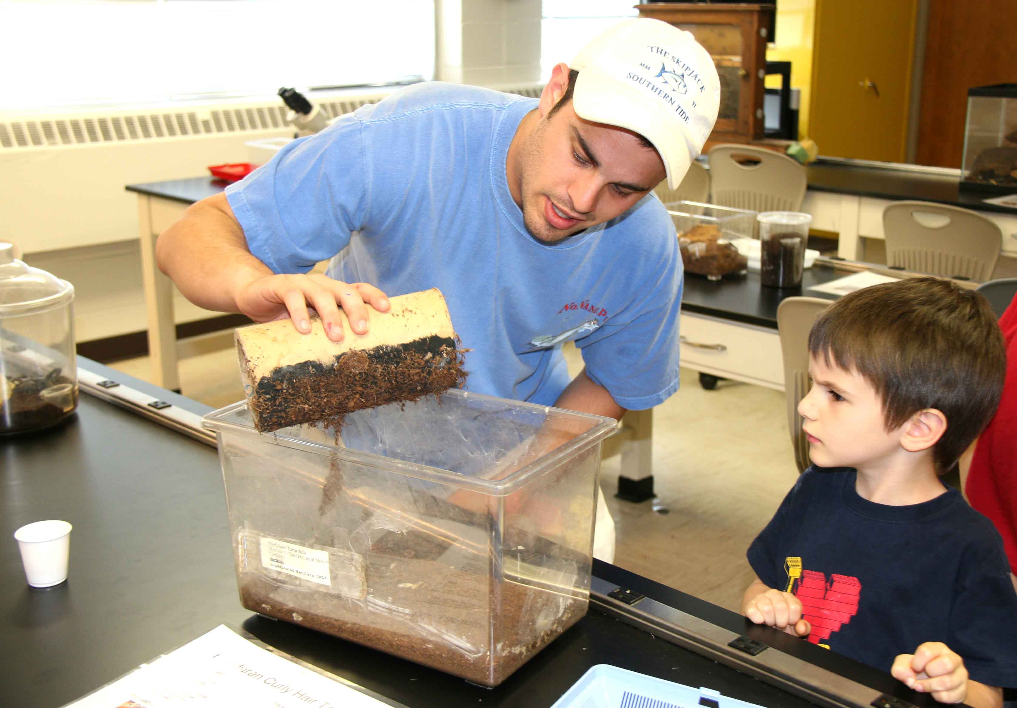 H.O. Lund Entomology Club and students in a service-learning entomology class hosted the 2012 insect zoo on March 30, 2012.