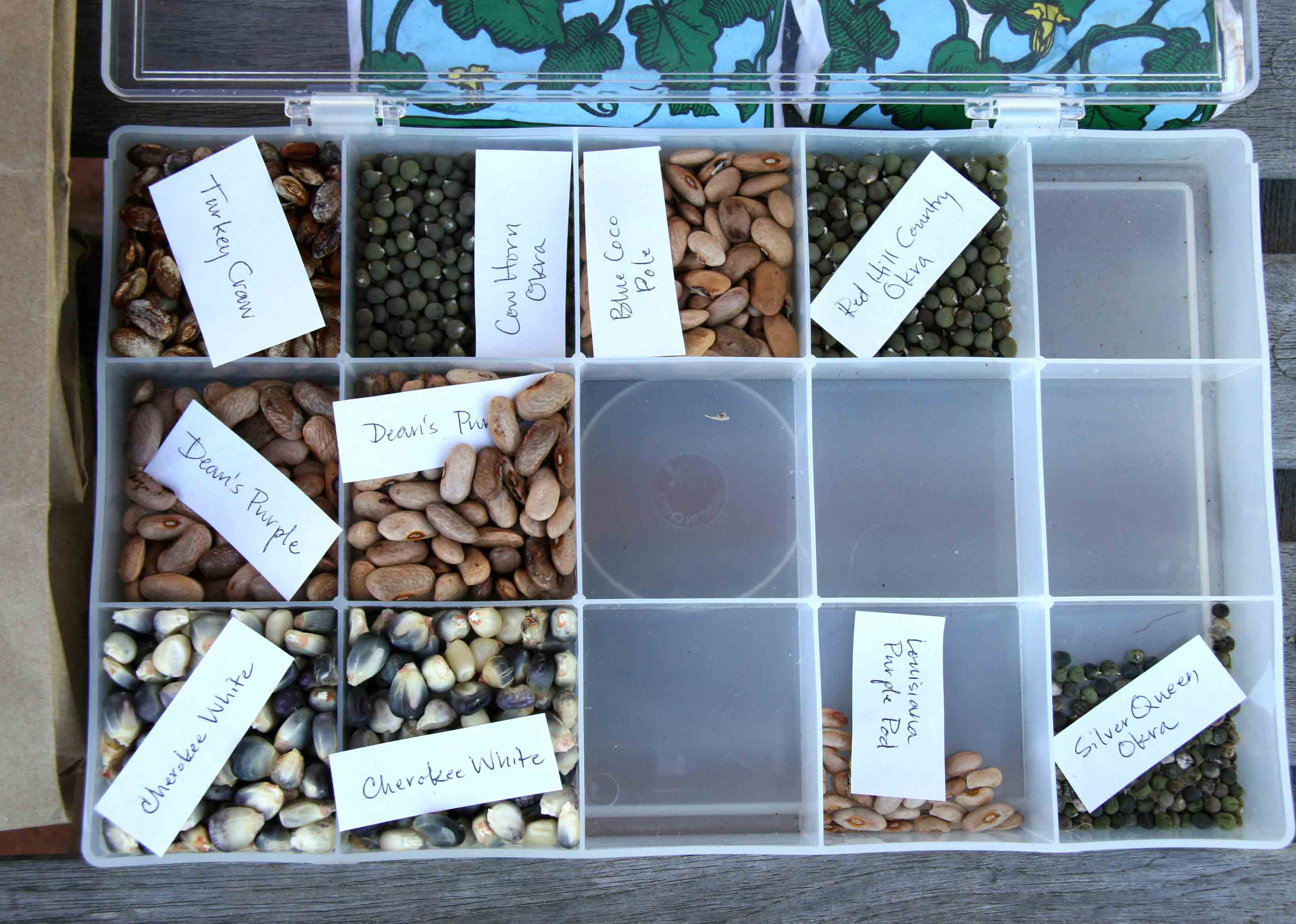Photos of seeds available at a recent seed swap at the State Botanical Garden of Georgia.